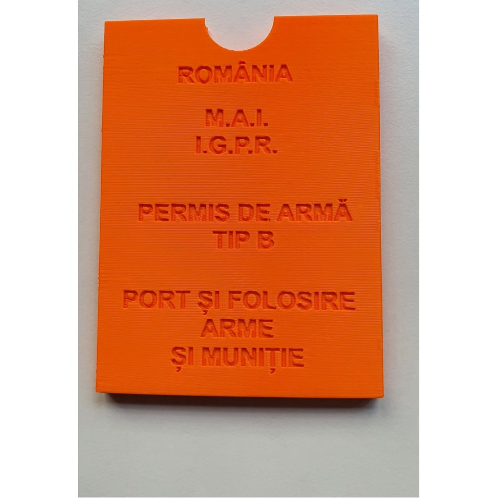 Husa protectie permis port-arma (orange)
