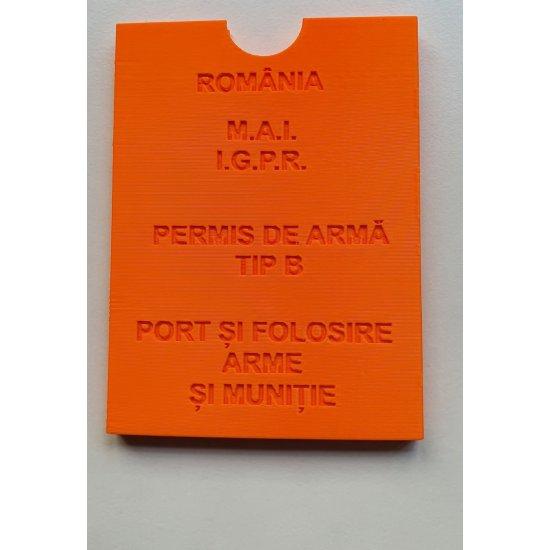 Husa protectie permis port-arma (orange)
