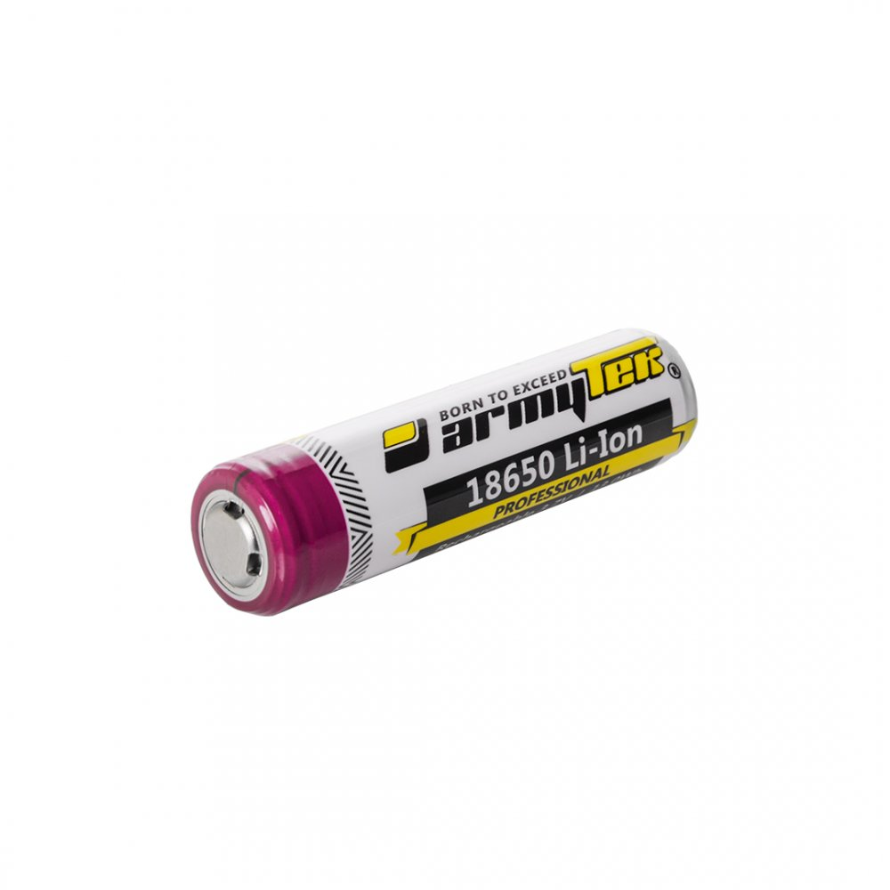 Baterie ARMYTEK 18650 Li-Ion, 3500mAh, reincarcabila, cu protectie (Baterie 18650 Li-Ion, 3500mAh, reincarcabila, cu protectie) - Lanterne si accesorii - Armytek (by www.mldguns.ro)