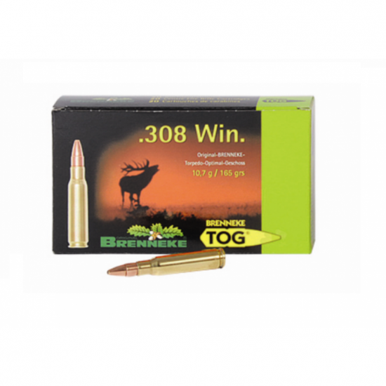 Cartus cu glont cal. 308 Win, BRENNEKE Tog, 10.70g (Tog, 10.70g (cal. 308 Win)) - Munitii carabine - Brenneke (by www.mldguns.ro)