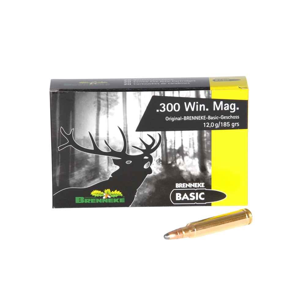 Cartus cu glont cal. 300 Win-Mag, BRENNEKE Basic, 12.00g (Basic, 12.00g (cal. 300 Win-Mag)) - Munitii carabine - Brenneke (by www.mldguns.ro)