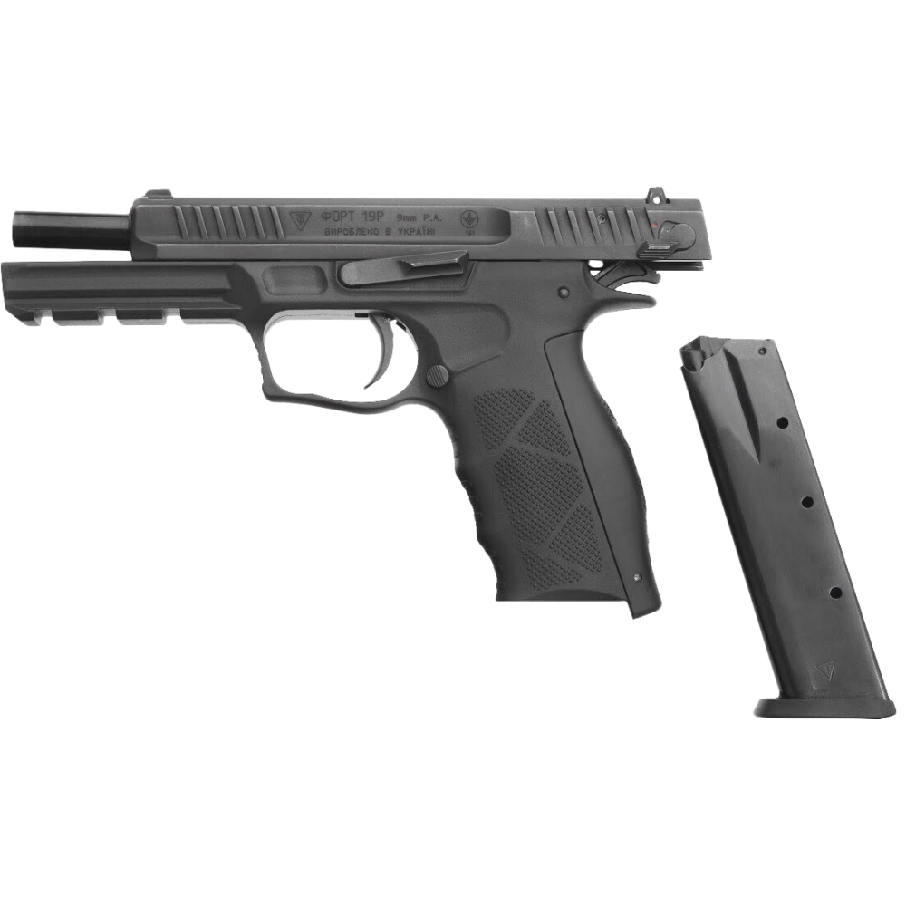 Pistol cu bile de cauciuc FORT 19R - cal. 9mm P.A. (19R - 9 mm) - Pistoale autoaparare - Fort (by www.mldguns.ro)