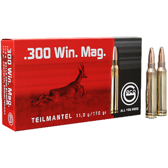 Cartus cu glont cal. 300 Win-Mag, GECO Teilmantel, 11.0g (Teilmantel, 11.0g (300 Win-Mag)) - Munitii carabine - Geco (by www.mldguns.ro)