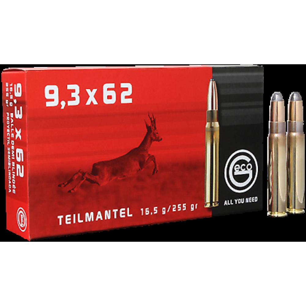 Cartus cu glont cal. 9.3x62, GECO Teilmantel, 16.50g (Teilmantel, 16.50g (9.3x62)) - Munitii carabine - Geco (by www.mldguns.ro)