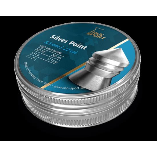 Cutie alice cal. 5.5mm, H&N SPORT Silver Point, 1.11g (Silver Point, 1.11g (5.5mm)) - Munitii tir sportiv - H&N Sport (by www.mldguns.ro)