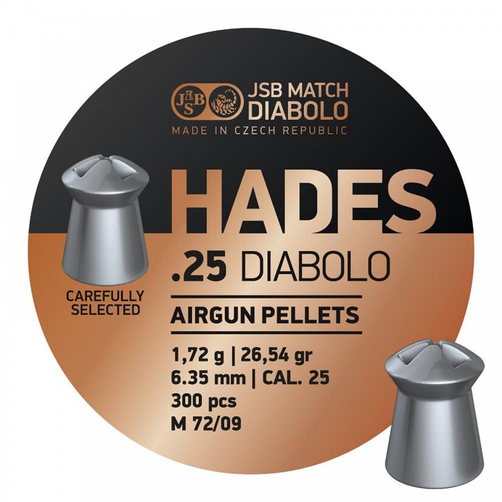 Cutie alice cal. 6.35mm, JSB Diabolo Hades, 1.72g (300 alice)