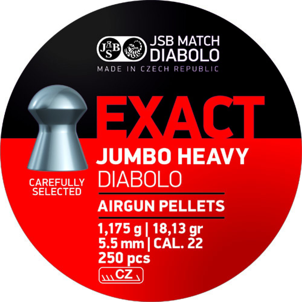 Cutie alice cal. 5.5mm, JSB Exact Jumbo Heavy, 1.175g (250 alice)
