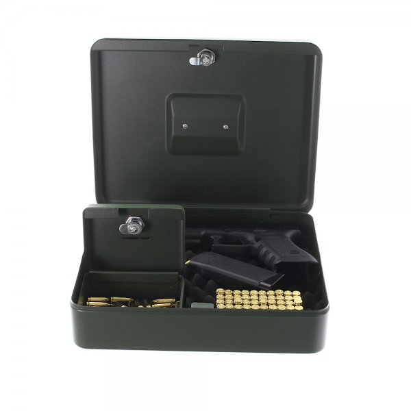 Cutie pentru pistol, cu caseta pentru munitie GunBox