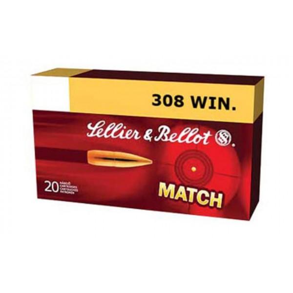 Cartus cu glont cal. 308 Win, SELLIER & BELLOT Match HPBT, 11.70g