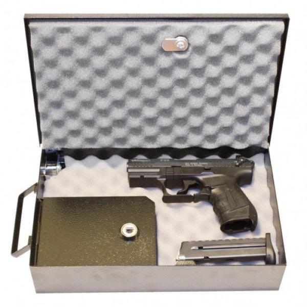 Cutie pentru pistol, cu caseta pentru munitie Trezor (cu fixare pe sina)