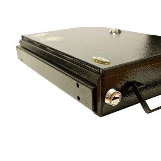 Cutie pentru pistol, cu caseta pentru munitie Trezor (cu fixare pe sina) (Cutie pistol cu sina Trezor) - Cutii pentru pistoale - Trezor (by www.mldguns.ro)